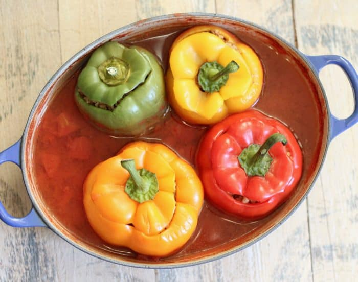 Lamb Stuffed Peppers from Living Well Kitchen