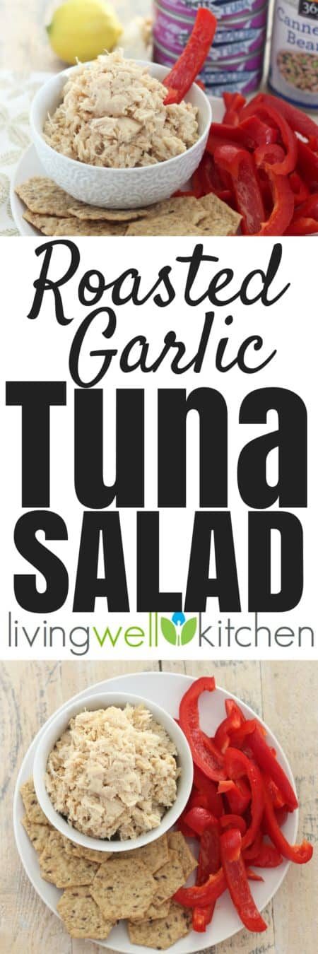 Roasted garlic gives this easy Roasted Garlic Tuna Salad recipe from @memeinge tons of flavor while keeping the ingredients list simple and budget friendly. Free of the top 8 common allergens. Gluten free, dairy free, egg free