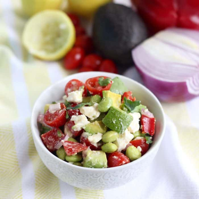 Edamame Feta Salsa from Living Well Kitchen