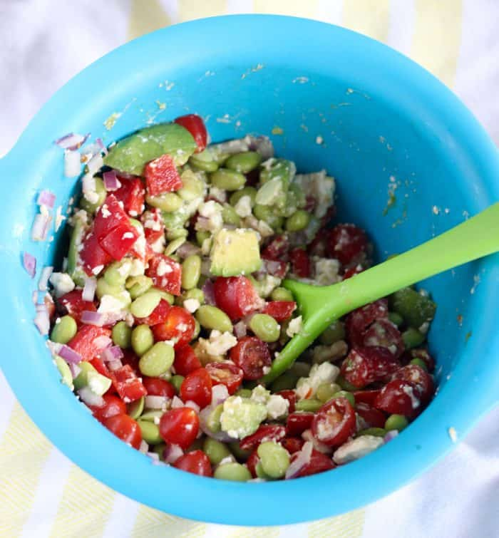 Edamame Feta Salsa from Living Well Kitchen