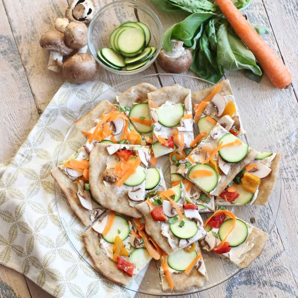 Cold Veggie Pizza from Living Well Kitchen