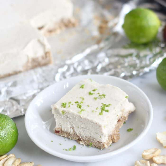 key limes, small plate with Key Lime Pie Bar