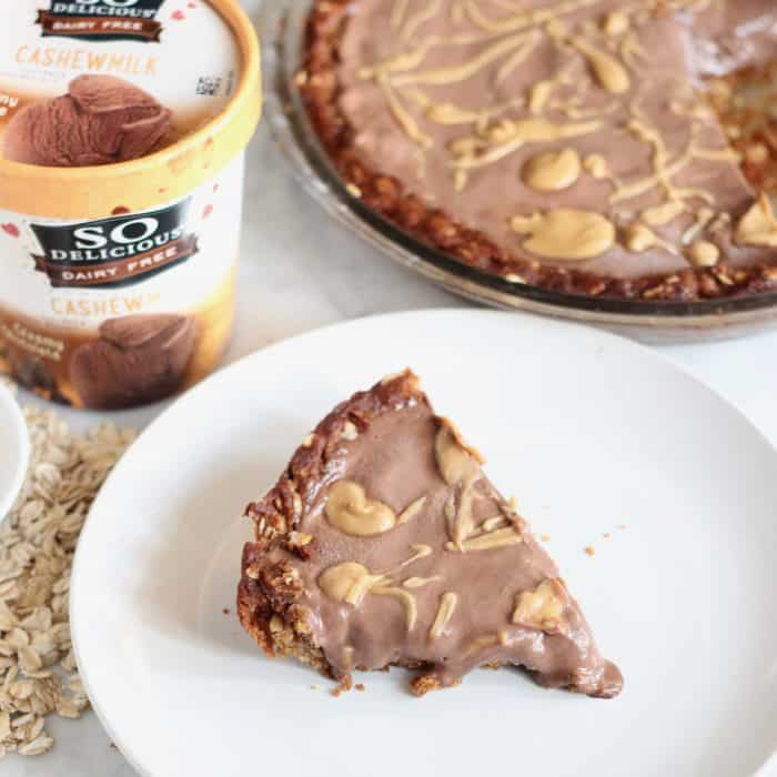 Peanut Butter Chocolate Ice Cream Pie from Living Well Kitchen
