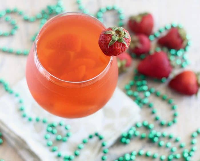 Strawberry Kombucha Sangria from Living Well Kitchen
