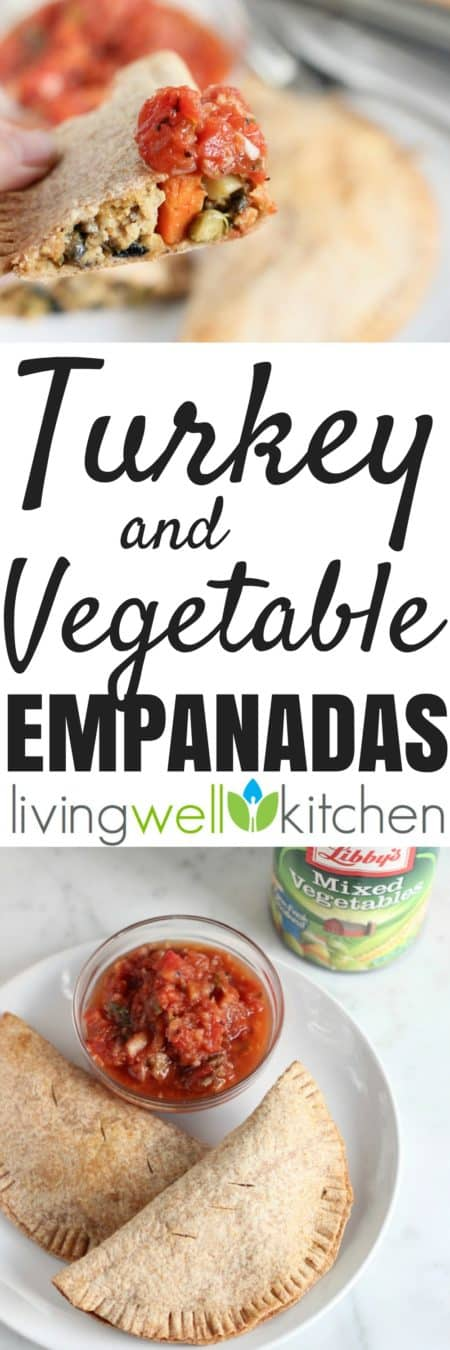 These Turkey and Vegetable Empanadas from @memeinge are an on-trend, nutritious and delicious meal made with canned veggies. Easy dinner recipe ready in 45 minutes is a fun take on empanadas that doesn't require making dough or spending a lot of time or money. Tasty, budget friendly meal idea great for the whole family! Easily made gluten free