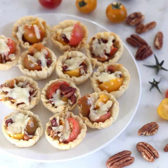 Tomato Pie Bites from Living Well Kitchen