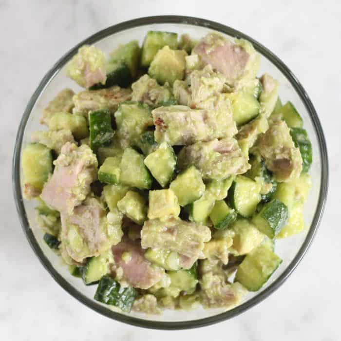 Tuna Cucumber Avocado Salad from Living Well Kitchen