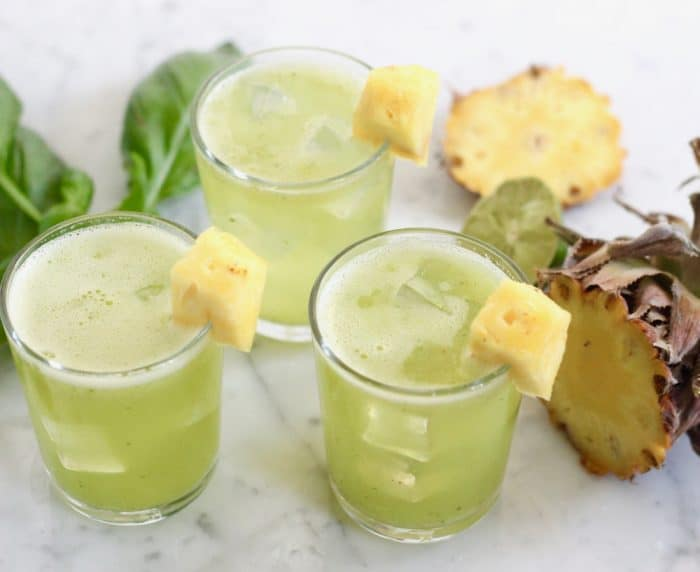 Basil Pineapple Agua Fresca from Living Well Kitchen