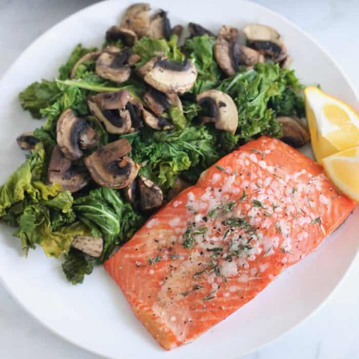Lemon Thyme Roasted Salmon from Living Well Kitchen