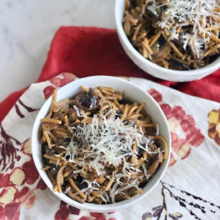 Truffle Pasta with Mushrooms from Living Well Kitchen