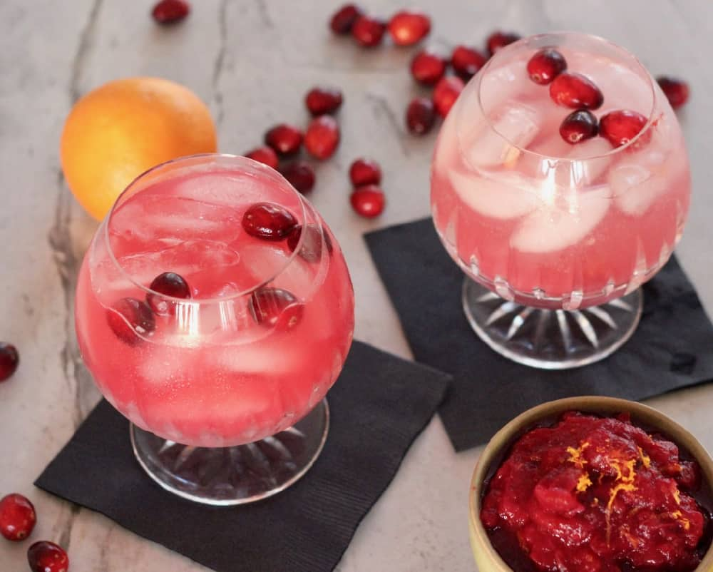 Cranberry Margaritas and Mocktails
