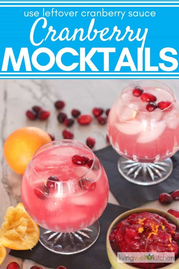cranberry mocktail with cranberries and oranges