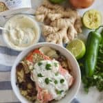 Salmon with Mango Yogurt Sauce from Living Well Kitchen