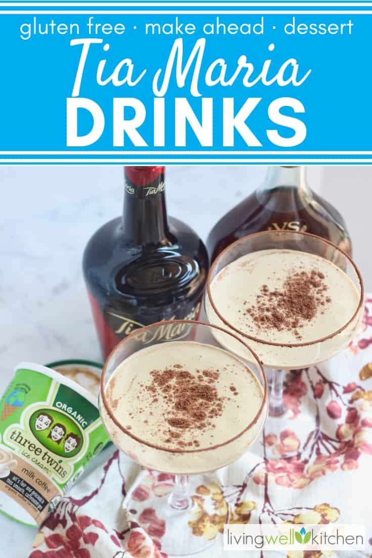 Tia Marias are a fabulous after dinner drink and are a great substitute for dessert.This Tia Maria cocktail is basically a boozy milkshake, a drinkable dessert that everyone loves. Very easy to prepare and can be made ahead. Great for entertaining and for the holiday season. #tiamariacocktail #tiamariarecipe