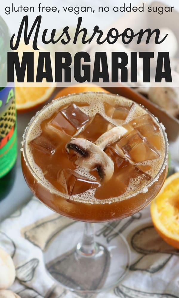 Mushroom Margarita from Living Well Kitchen is a smoky, earthy twist on a margarita. This tasty, interesting margarita is a great way to get more mushrooms in your diet. Gluten free, dairy free, no added sugar, vegan cocktail recipe
