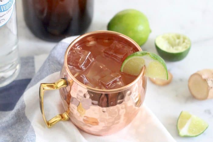 Kombucha Moscow Mule from Living Well Kitchen