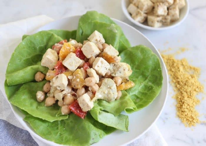Vegan Greek Tofu Salad from Living Well Kitchen