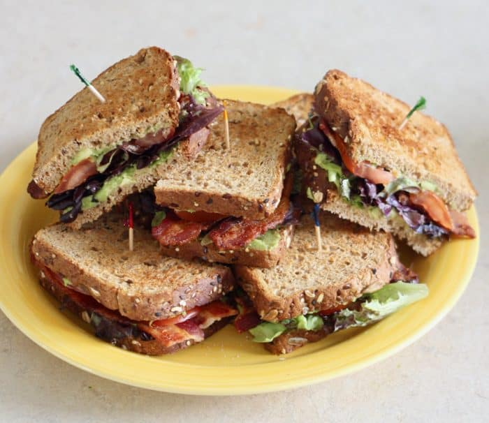 plate of Avocado BLTs