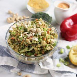 Vegan Cheezy Broccoli Salad