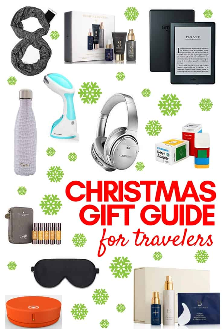 Have a relative or friend that loves to travel? Here are 10 ideas that will make the globetrotter in your life incredibly happy! This Christmas gift guide for jet-setters is not only for the holidays though; these presents are great year round. #giftguide #travelgifts