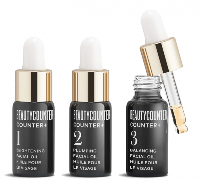 sets of beautycounter face oil