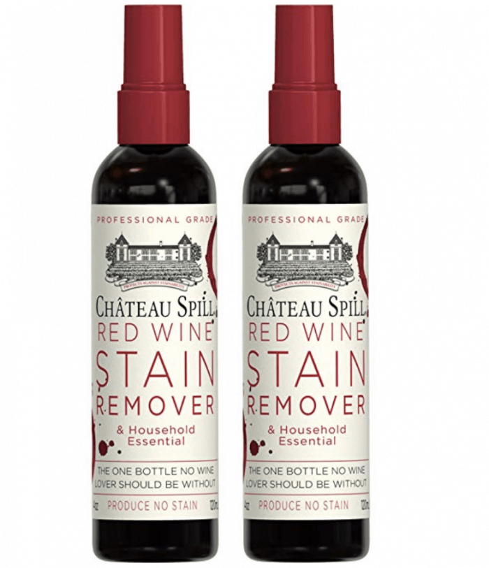 two bottles of wine stain remover