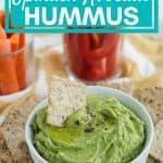 spinach avocado hummus pinterest image