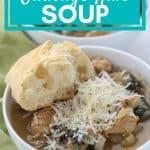 sausage kale soup pinterest image